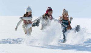 雪の中の子供たちの写真